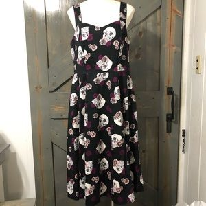Torrid Skull & Floral Dress Size 12